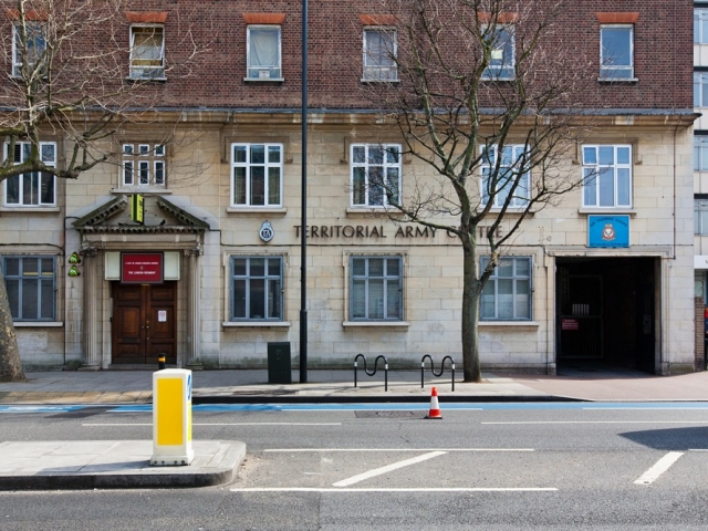 Facade, Front of the building, Balham, London, Alternative Venues London, Military Venues, Military Locations