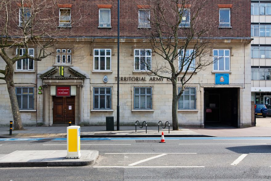 Front of the building, Balham, London, Alternative Venues London, Military Venues, Military Locations