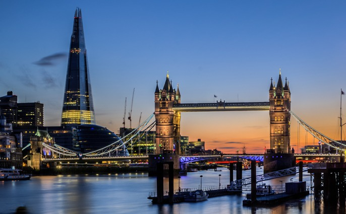 Sunset view of Tower Bridge from HMS President, London venue