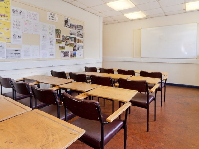 Classroom, Mile End, Corporate, Meetings, Filming, Alternative Venues London, Venues, London Venues, Military Venues, Military Locations, Space to Hire, Filming Location, London