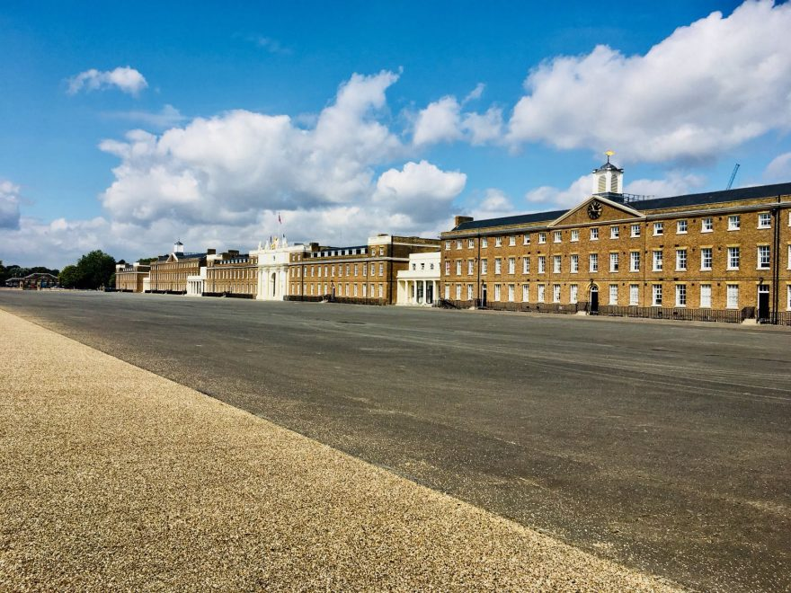 The frontage of the Royal artillery barracks