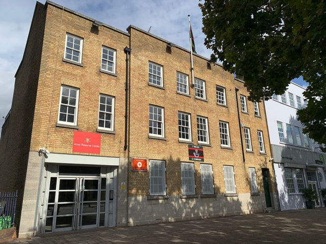 Building Frontage, Mile End, Corporate, Meetings, Filming, Alternative Venues London, Venues, London Venues, Military Venues, Military Locations, Space to Hire, Filming Location, London